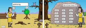 Exempel från webbspelet Måltavlan 2-5