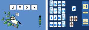 Exempel från webbspelet Alfakungen