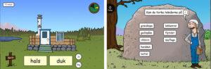 Exempel från webbspelet Bygget